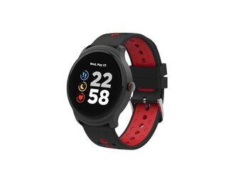 Canyon CNS-SW81BR Oregano smart hodinky, BT, fareb. LCD displej 1.3´´, vodotes. IP68, multišport. režim, červeno - čier