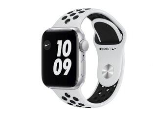 Apple Watch Nike SE GPS, 40mm Silver Aluminium Case with Pure Platinum/Black Nike Sport Band - Regular