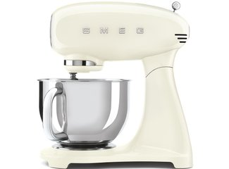 Kuchynský robot Smeg Retro Style 50's, s nerezovou miskou,4,8 l, krémový