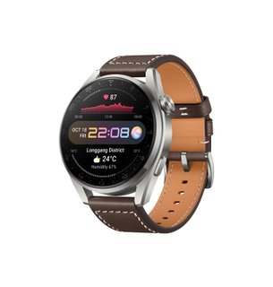 Huawei Watch 3 Pro Brown Leather